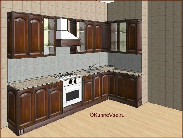 Кухни с вентиляционным коробом