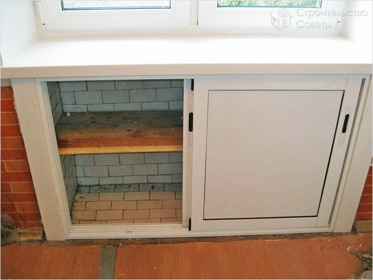Холодильник под окном в хрущевке отделка своими руками видео