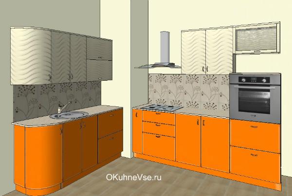 дизайн кухни в коробом в углу фото