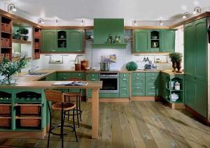 оливковые кухни в интерьере фото