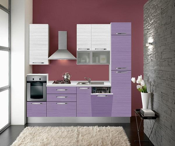 Сиреневая кухня: фото удачных примеров