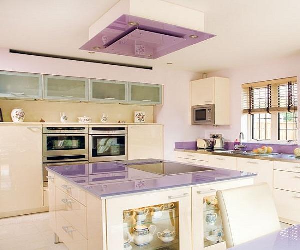сиреневые кухни фото