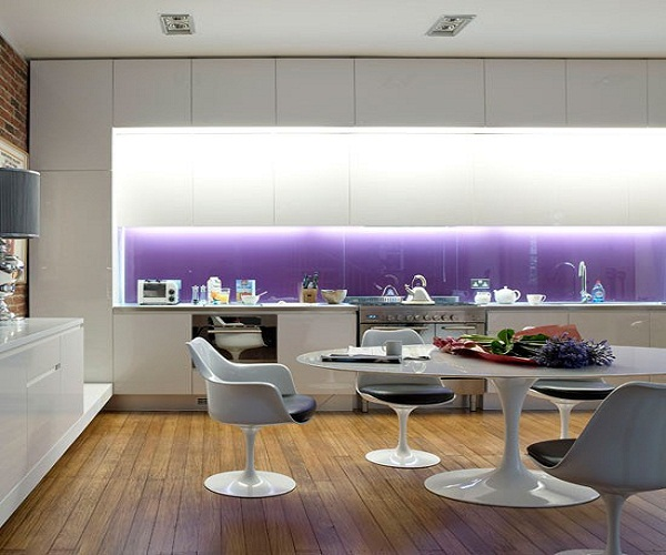 Фартук для фиолетовой кухни