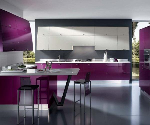 Фото кухни дизайн фиолетовые