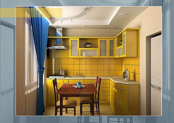 Как обставить кухню 9 квадратов