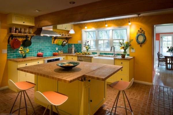 Дизайн желтые обои
