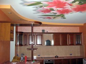 какой потолок сделать для кухни, натяжной потолок на кухне