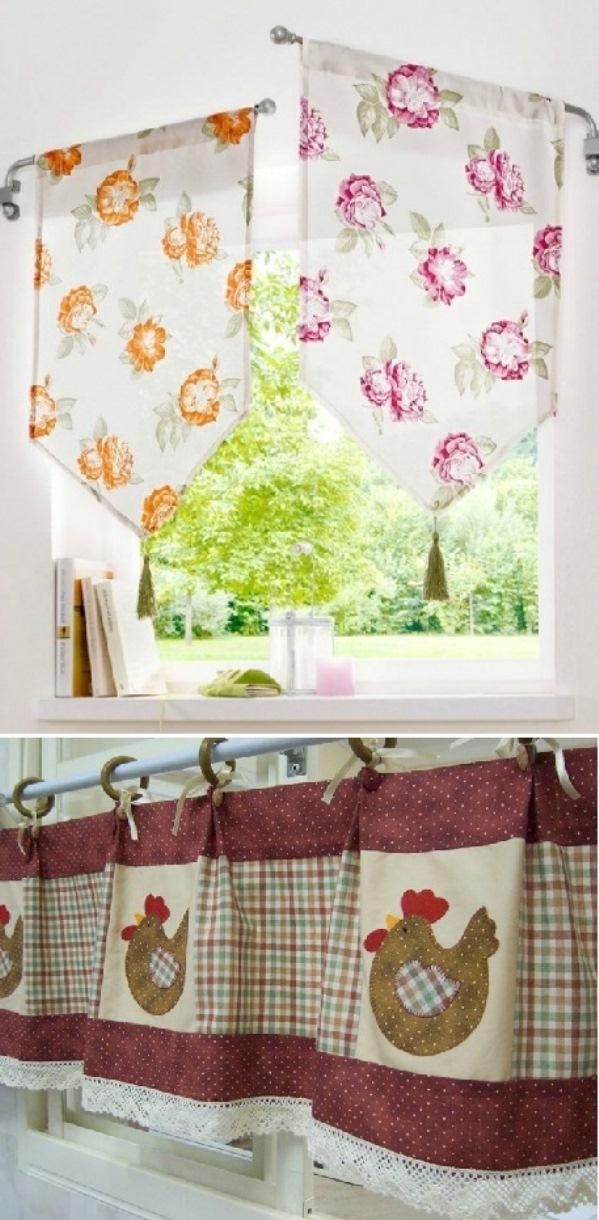 как подобрать кухонные шторы