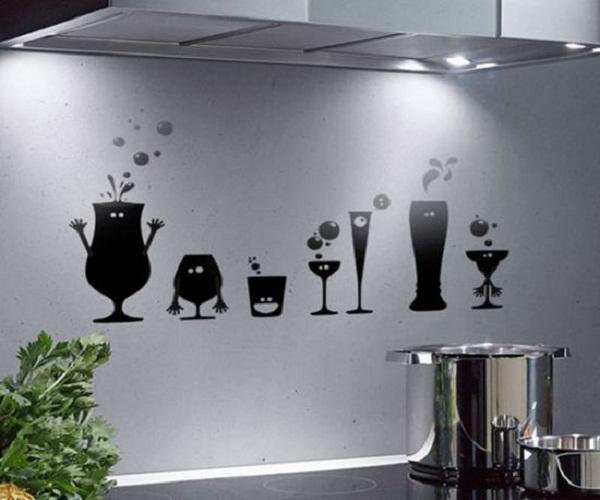 Рисунки на стенах кухни своими руками фото 67