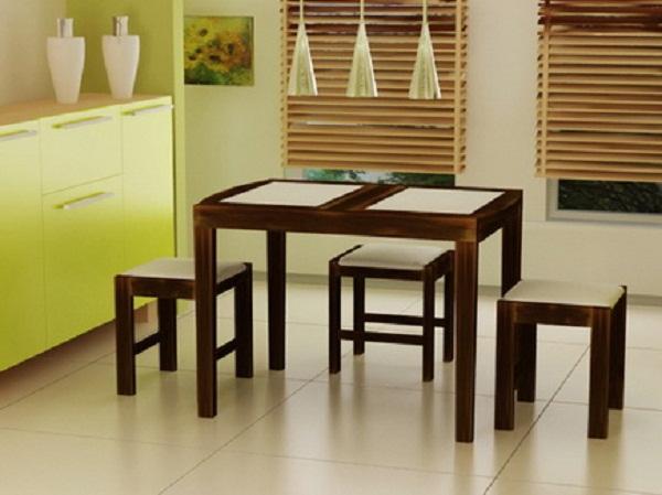 деревянные столы для кухни