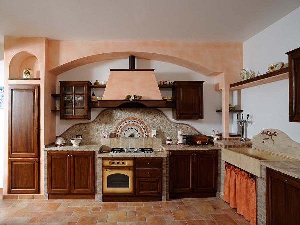 декоративный камень на кухне фото