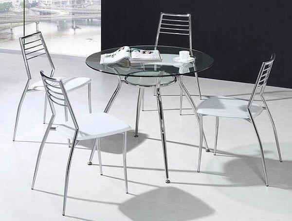маленький круглый стол для кухни
