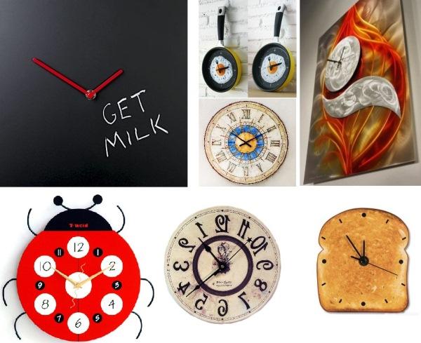 Оригинальные часы на кухню