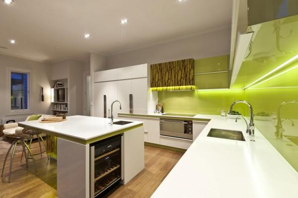 Кухня оливкового цвета1