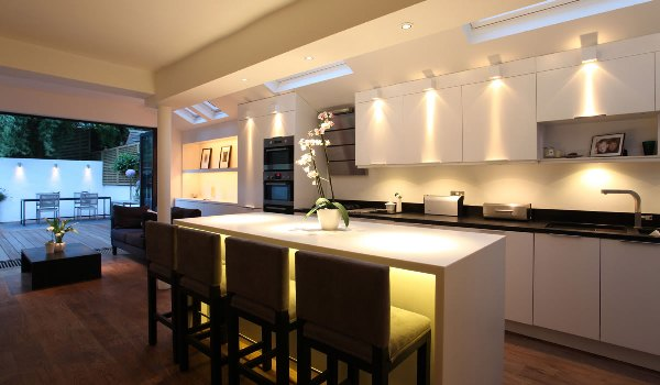 подсветка на кухне фото