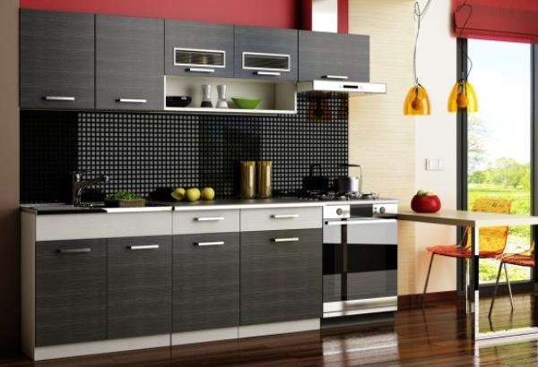 Черно белая кухня1
