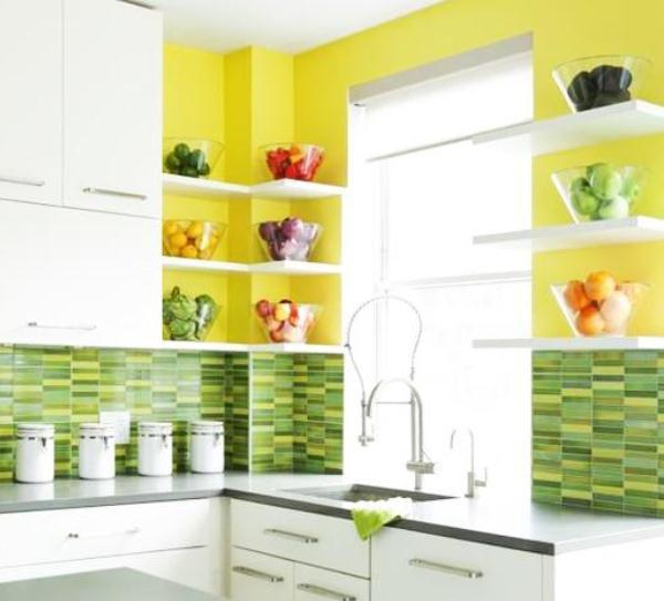 Кухня фисташкового цвета 2