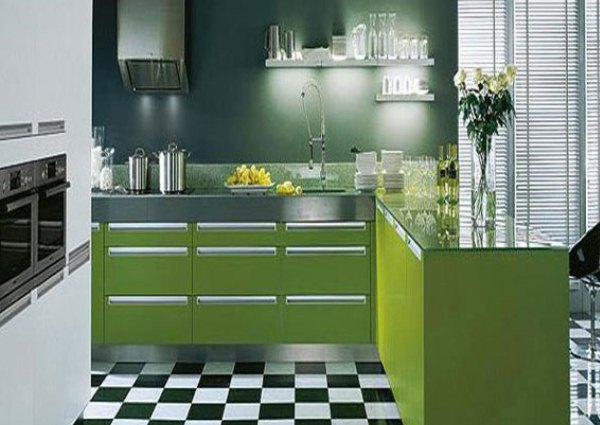 кухня цвета лайм1