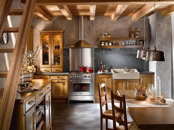 кухни в деревенском стиле фото