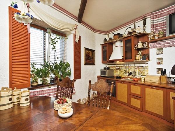 интерьер кухни в украинском стиле