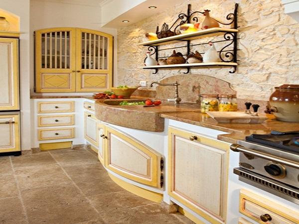 Стены кухни прованс