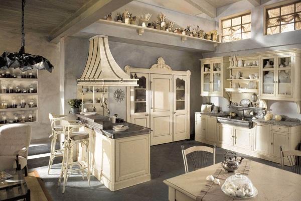 деревянная мебель на кухне в стиле кантри