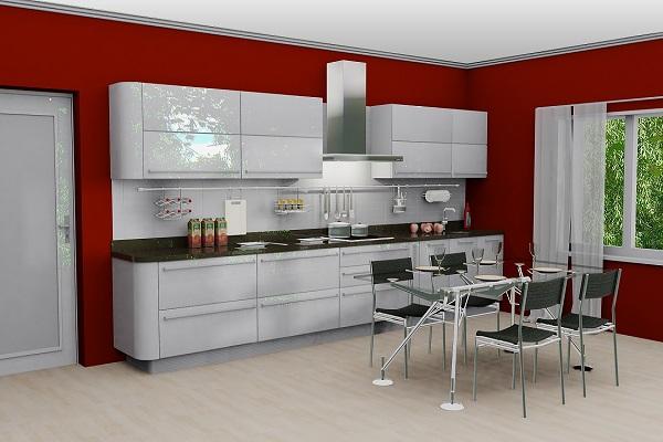 Белую кухню  модерн