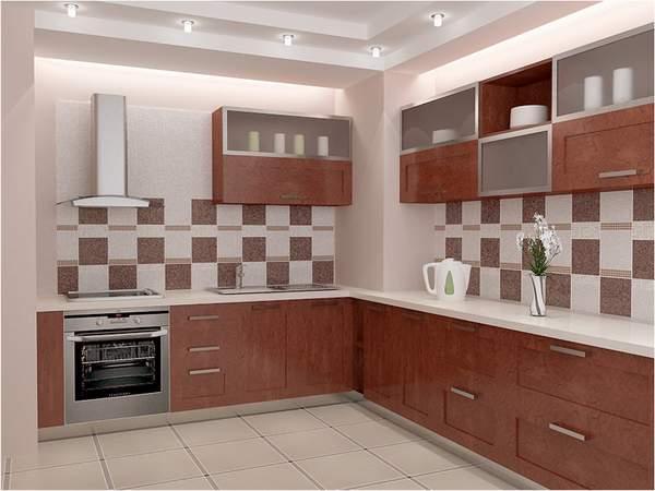 Плитка под мрамор в интерьере кухни