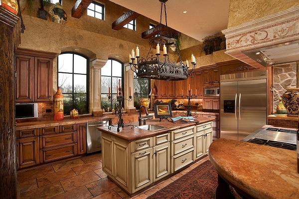 кухня в стиле ретро фото