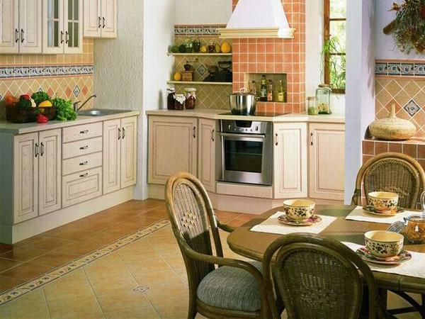 керамические полы на кухне