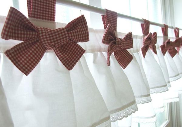 Оригинальные шторы на кухню своими руками фото