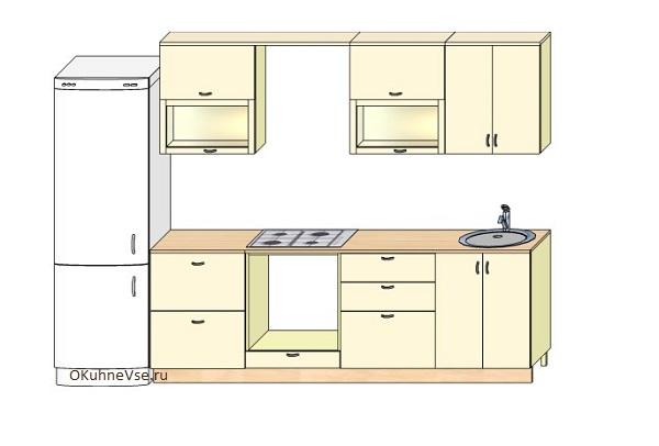 проект кухни 6 м
