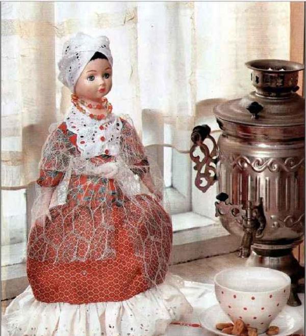 Грелка на чайник своими руками мастер класс кукла 44