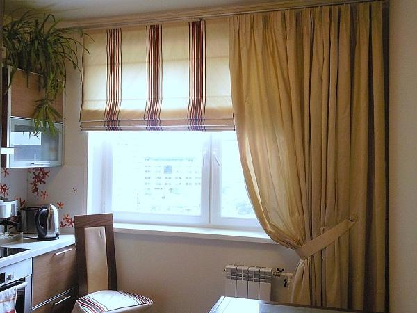 Шторы на окно для кухни