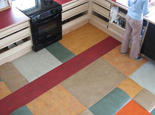 пол на кухне линолеум