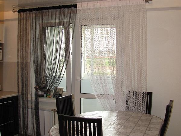 Как красиво повесить кисею, нитяные Дизайн штор веревочные шторы