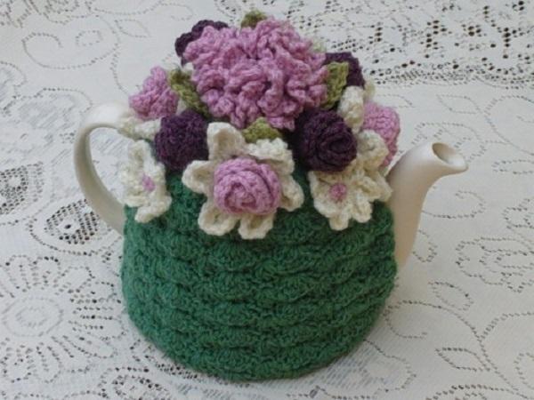 Вязаные грелки на чайник