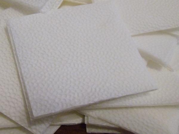 Бумажные салфетки для изготовления рождественского венка