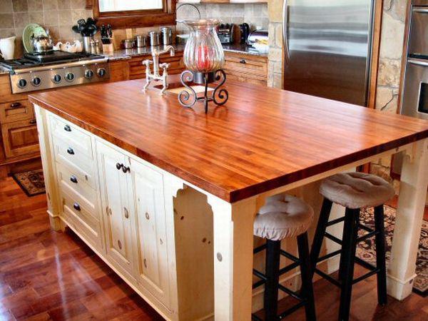Как сделать столешницу из дерева на кухню
