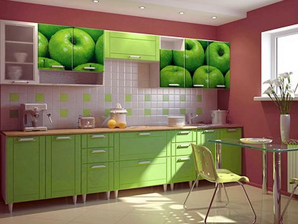 Картина - не на стене, а на кухонных фасадах