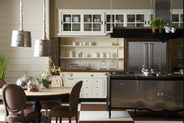 Встроенная техника гармонично вписалась в интерьер кухни