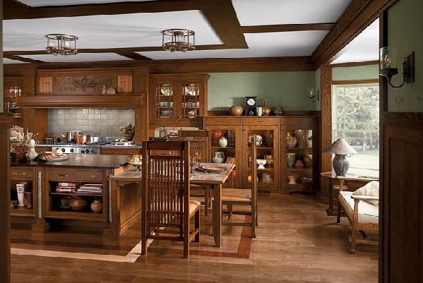 Мебель и другие детали интерьера - из натурального дерева