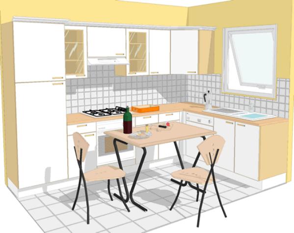 самостоятельное планирование кухни