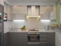 Планировка кухни угловой